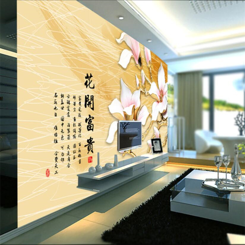 beibehang Custom wallpaper 3D new Chinese home and everything on the ...