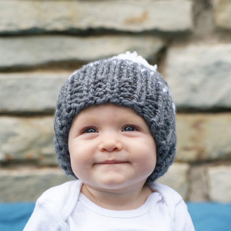 DreamShining Hot Sale Baby Hat Beanie 5 Color Knitted Hairball Kids Caps Autumn Winter Warm Newborn Girls Boys Hats Accessorie