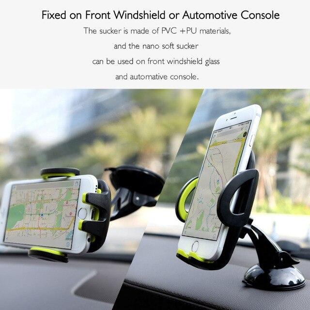 Оригинальный Автомобильный Держатель Мобильного Телефона Стенд Для Iphone 6 Plus/5s Для Samsung galaxy S6 S7 edge S5 Поддержка 6.0 дюймов 360 Поворот