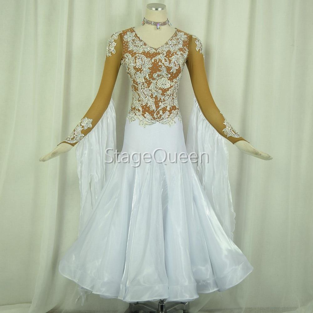 Women Modern Waltz Tango Smooth Latin Ballroom Competition Dance Ball Gown Dress