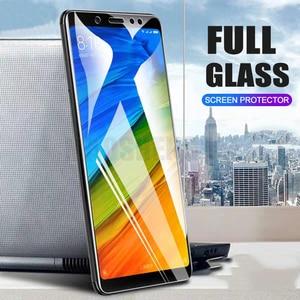 Image 1 - 2ピース/ロットフル強化ガラスxiaomi redmi注5 7 proのスクリーンプロテクター9hアンチブルーレイ強化ガラスredmi注7プロ