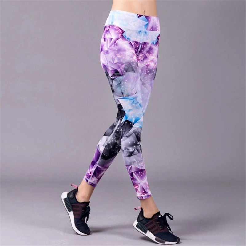 Printed Yoga Pants Fitness Gym Workout Running Tight Women Yoga Leggings Quick Dry Sport Leggings Female Trousers Sportswear все цены