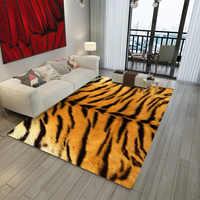 Nordic decor Tier Leopard Giraffe Tiger Gedruckt Teppich Rindfleisch Leder Faux Leder Teppiche Und Teppiche Für Home Wohnzimmer
