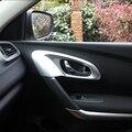 Стайлинг автомобиля Наклейка для Renault Kadjar 2016 2017 ABS хром внутренняя дверная ручка Аксессуары для чаши формовочная отделка 4 шт./компл.