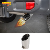 BAWA Muffler for Jeep Wrangler JL 2018 Stainless Steel Exhaust End Tube for Jeep Wrangler jl Accessories