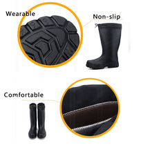 New Winter Mens Mid Calf Rubber Rain boots fishing hunting wear boots waterproof outdoor Waders  Rain Boot fish shoe