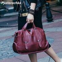 Pyaterochka Bag Women Genuine Leather Big Handbags Fashion Ladies Shoulder Bags Cheap Real Leather Hand Bag BaoBao Plaid Totes