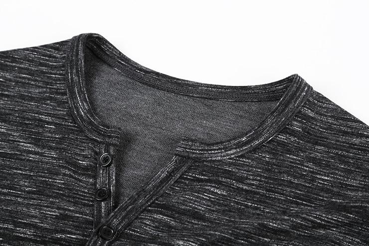 Neue Männer Henley Shirt 2018 neue T Tops Langarm Stilvolle Slim Fit - Herrenbekleidung - Foto 6