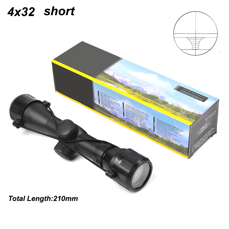 Bestsight Hunting 4x32 Short Air Rifle Scope Tactical Sight Sniper For Shooting Airsoft Guns With 20mm/11mm Rail Mounts