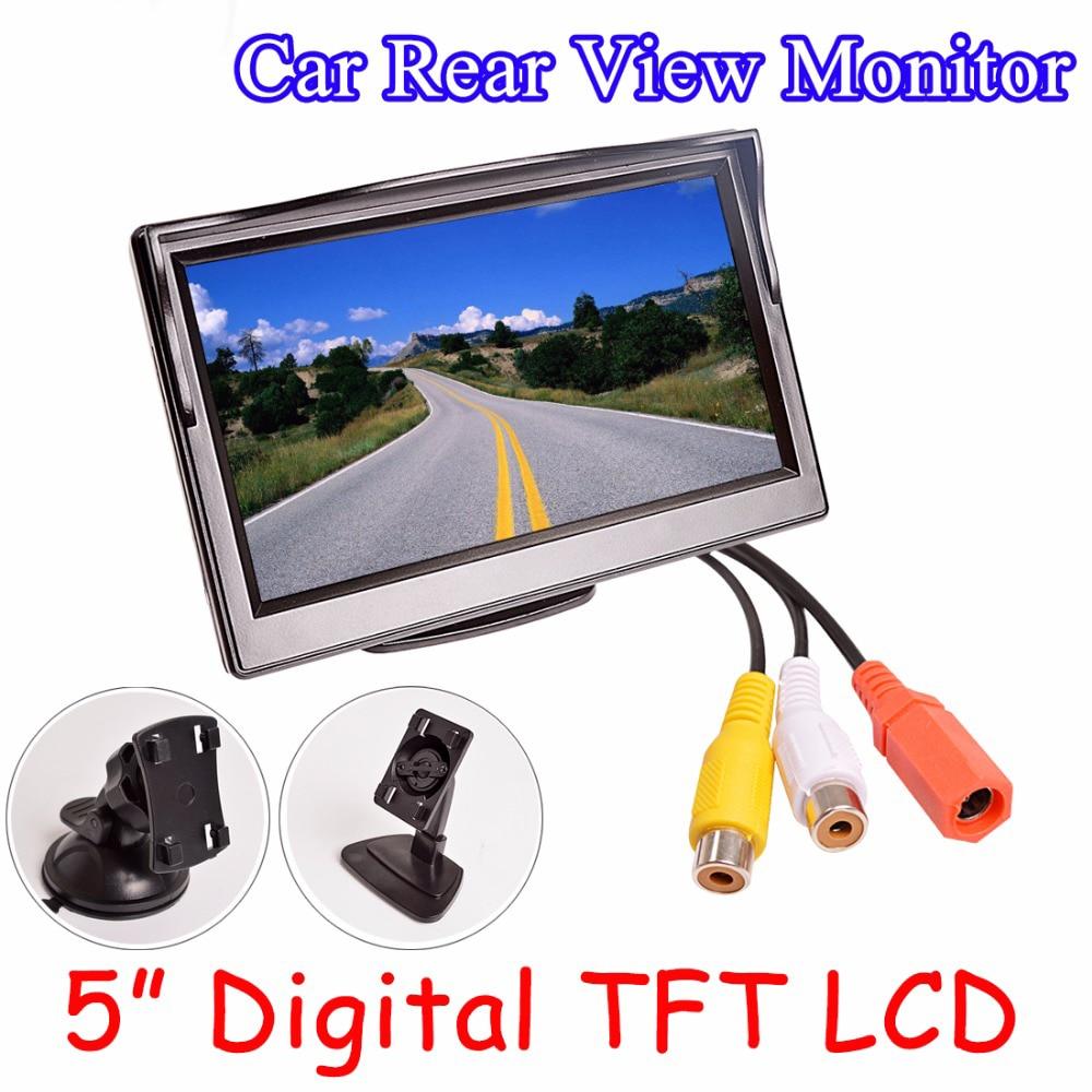 """imágenes para 5 """"Monitor del coche TFT LCD de 5.0 Pulgadas 800*480 16:9 Pantalla de 2 Vías de Entrada de vídeo Digital de ALTA DEFINICIÓN de Colores Para Cámara de Visión Trasera Inversa VCD DVD"""