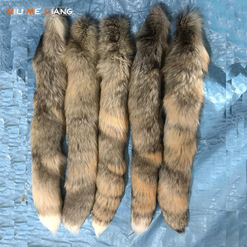 Natural Fur fox tail 70CM Custom stitching keychains fur Tassel Car key ring Women bag charms fox fur tail key chain A21 все цены