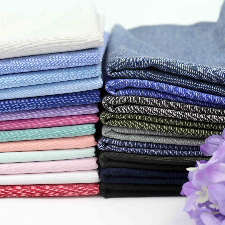 Weiche Reine farbe Oxford tuch Polyester baumwolle garn gefärbt stoff nähen DIY für Hemd kleid casual hosen Nordic kleidung 145*100 cm