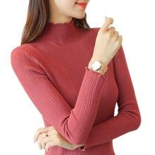 5b5128ac7224 AOSSVIAO las mujeres de cuello alto 2019 otoño e invierno las mujeres  suéteres y manga larga Mujer Tricot jersey para mujer negr.