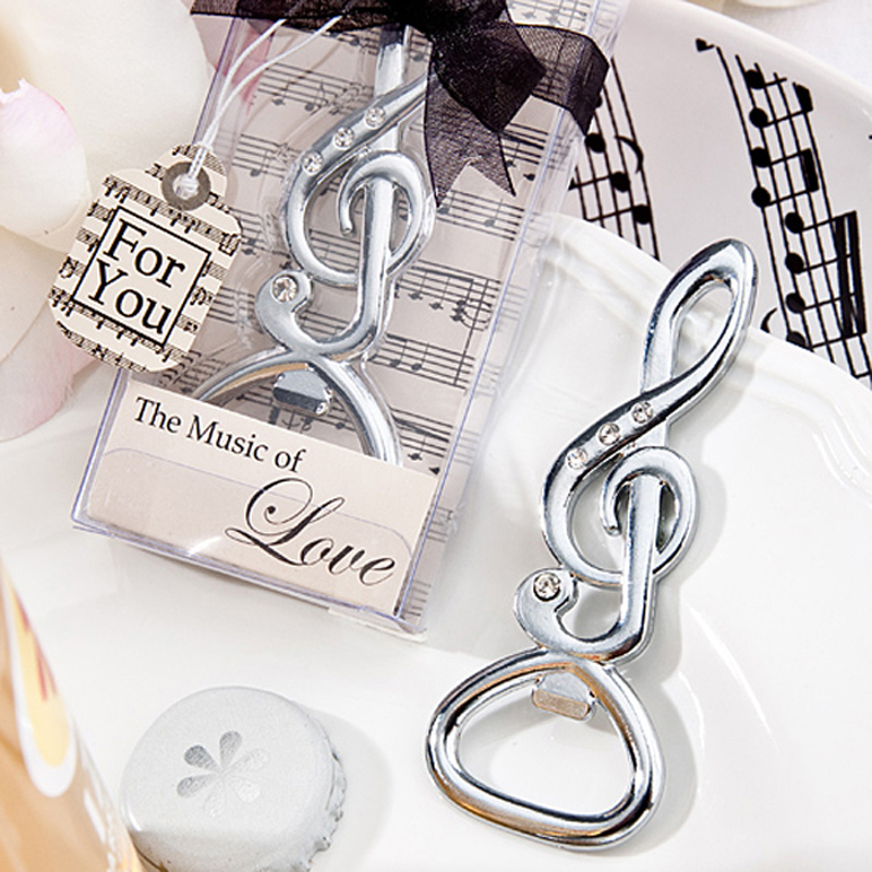24pcslot fashion music symbol design bottle beer opener bridal shower wedding party birthday favour lovely gift dining tool