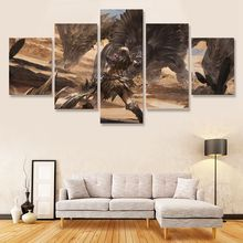 Monster Hunter World Wall Art Painting 5 Pcs Decor Modern Print Poster Paintings Living Room Home Decoration