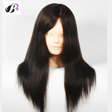 Newest 18Inch Female Mannequins 30% Human Hair Makeup Practice Training Manikin Doll Head For Sale Maquiagem Dummy With Wigs