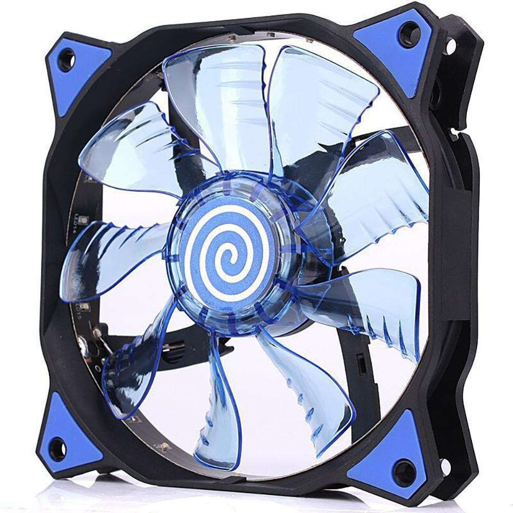 <font><b>PC</b></font> Computer 16dB Ultra Silent 12 LEDS 15 LEDs Case <font><b>Fan</b></font> Heatsink Cooler Cooling <font><b>pc</b></font> <font><b>fan</b></font> <font><b>120mm</b></font>,12CM <font><b>Fan</b></font>,12VDC 3P IDE 4pin image