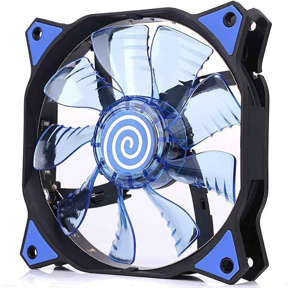 PC コンピュータ 16dB 超サイレント 12 LED 15 Led ケースファンヒートシンクのクーラーの冷却 pc ファン 120 ミリメートル、 12 センチメートルファン、 12VDC 3P IDE 4pin