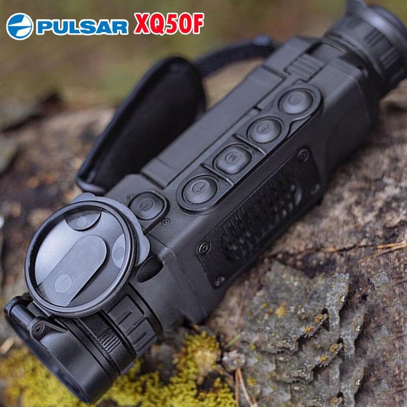 Pulsar XQ50F 50Hz Handheld Monocular Spotting Térmica Thermal Imaging Câmera de Visão Noturna 1800 m Faixa De Caça Quente
