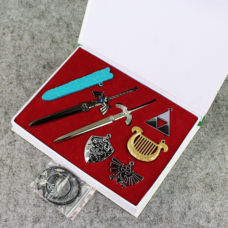 New Anime The Legend of Zelda Skyward Sword Link Cosplay Weapon Pendants Necklace With Box the legend of jig dragonslayer