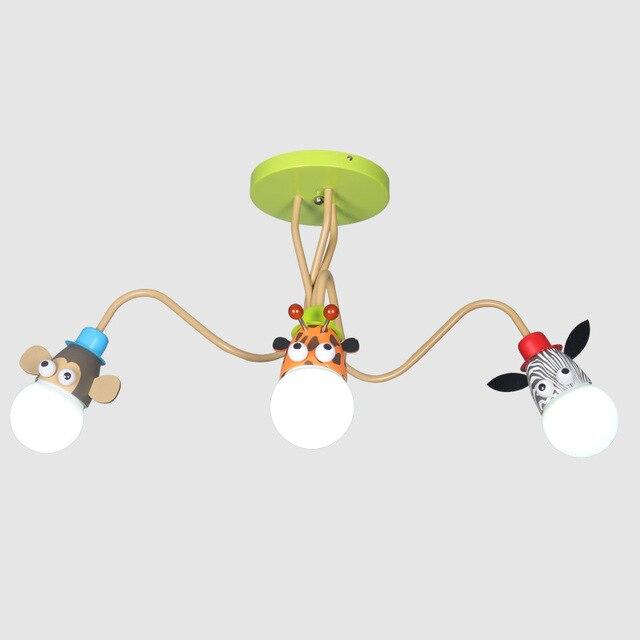 Modern Animal Giraffe Led Ceiling Light Lovely Kid Room Lamp Home Fixture For Children