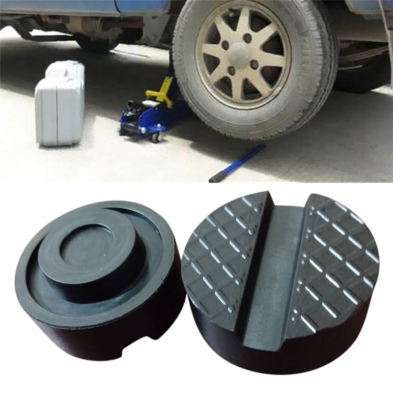 New Rail Floor Slotted Car Jack Guard Tool Car Jack Pad Rubber Disc Pad Auto Vehicle Weld Jacking Lifting Disk Frame Protector