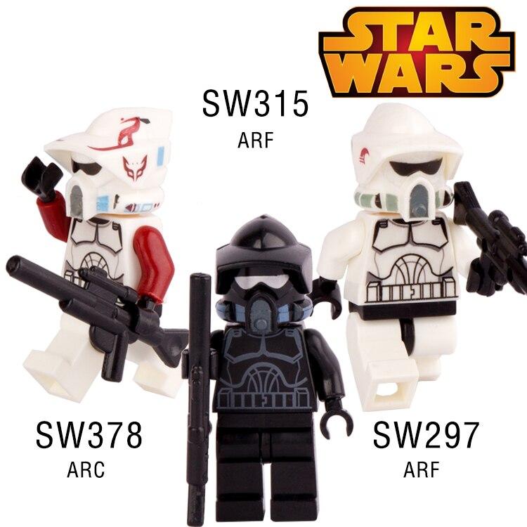 1pc <font><b>STAR</b></font> <font><b>WARS</b></font> Clone <font><b>Snow</b></font> Trooper <font><b>War</b></font> <font><b>The</b></font> <font><b>Force</b></font> <font><b>Awakens</b></font> Minifigures Assemble Building Blocks Kid Toy Gift Xmas Gift