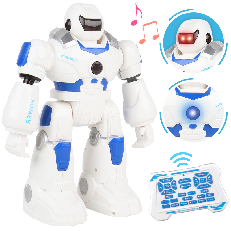 Nouveau Robot de Police RC Jack danse chant histoire figurine Robot de contrôle multifonction à distance avec jouet lumineux à LED pour les enfants