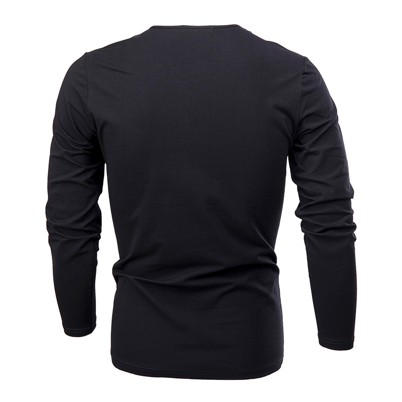 HTB1re22FY5YBuNjSspoq6zeNFXam - COODRONY Cotton T Shirt Men 2018 Spring Autumn New Long Sleeve T-Shirt Men Henry Collar Tee Shirt Men Fashion Casual Tops 7617