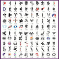 Golden Phoenix Book 1 Temporary Airbrush Tattoo Stencils For Body Art Paint Makeup Cosmetics 100 Designs Free Shipping