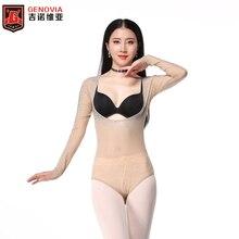 נשים בטן ריקוד בגד גוף רשת בגד גוף פתוח חזה ארוך שרוול העליון בגדי ריקוד נצנצים השפל חולצה ריקודי בטן אבזרים