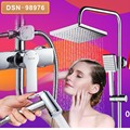 Free shipping Luxury square with chrome plated brass shower spray gun