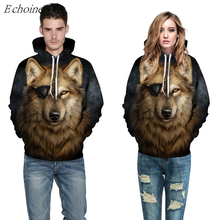 Echoine 3D One-eyed Wolf Print Men Women Sports Hoodies American Football Baseball Uniform Kits High Quality Excercise Sweaters