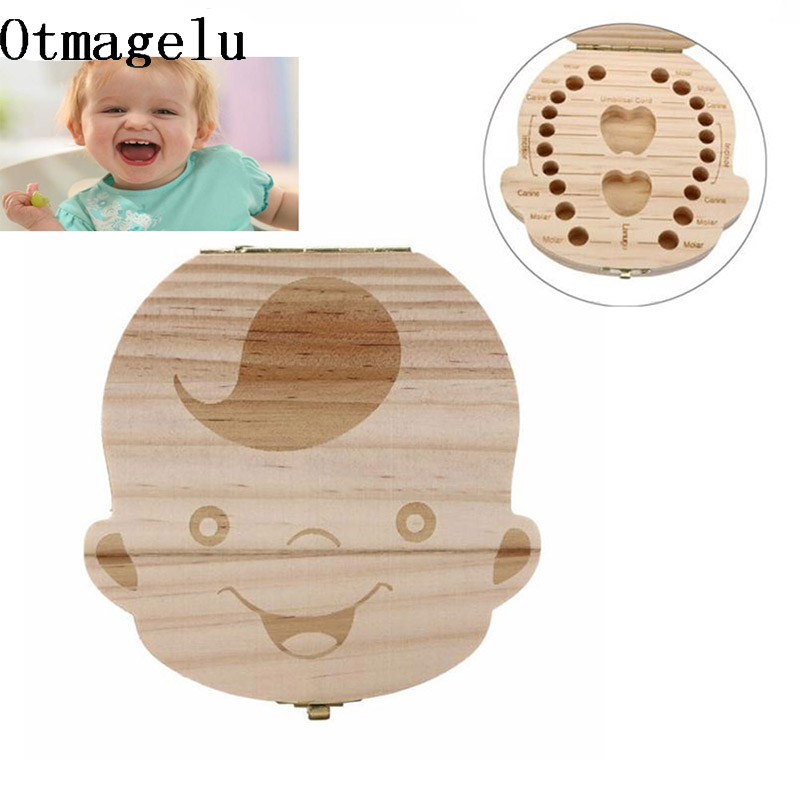 Baby Milk Tooth Storage Box Case Organizer For Baby Save Teeth Wood Box Collect tooth Case Holder as a Gift For Kid Boy Girl