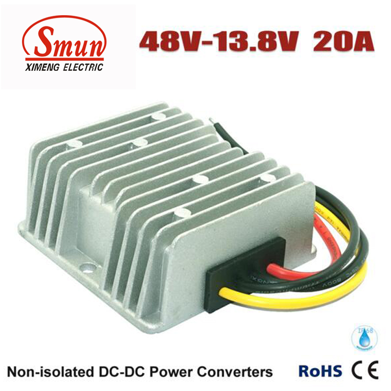 48VDC TO 13.8VDC 20A 276W DC DC Buck Converter With IP68 Waterproof rs232 to rs485 converter with optical isolation passive interface protection