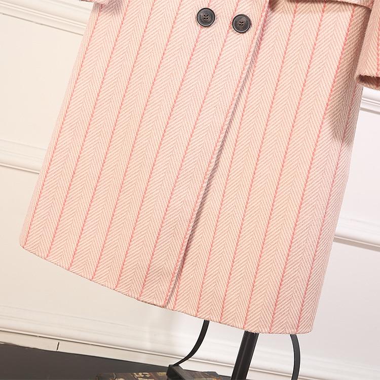 Manteau Pour Color Femmes 2018 apricot Pink Automne De gray Européenne Mode Marque Designer 11l589 hiver Vêtements Défilé T7qwawfx8