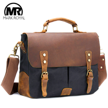 Купить с кэшбэком  MARKROYAL New Leather Travel Bags Men Vintage Shoulder Bags Large Capacity Handbags Business Travel Bag School Laptop Tote Bag