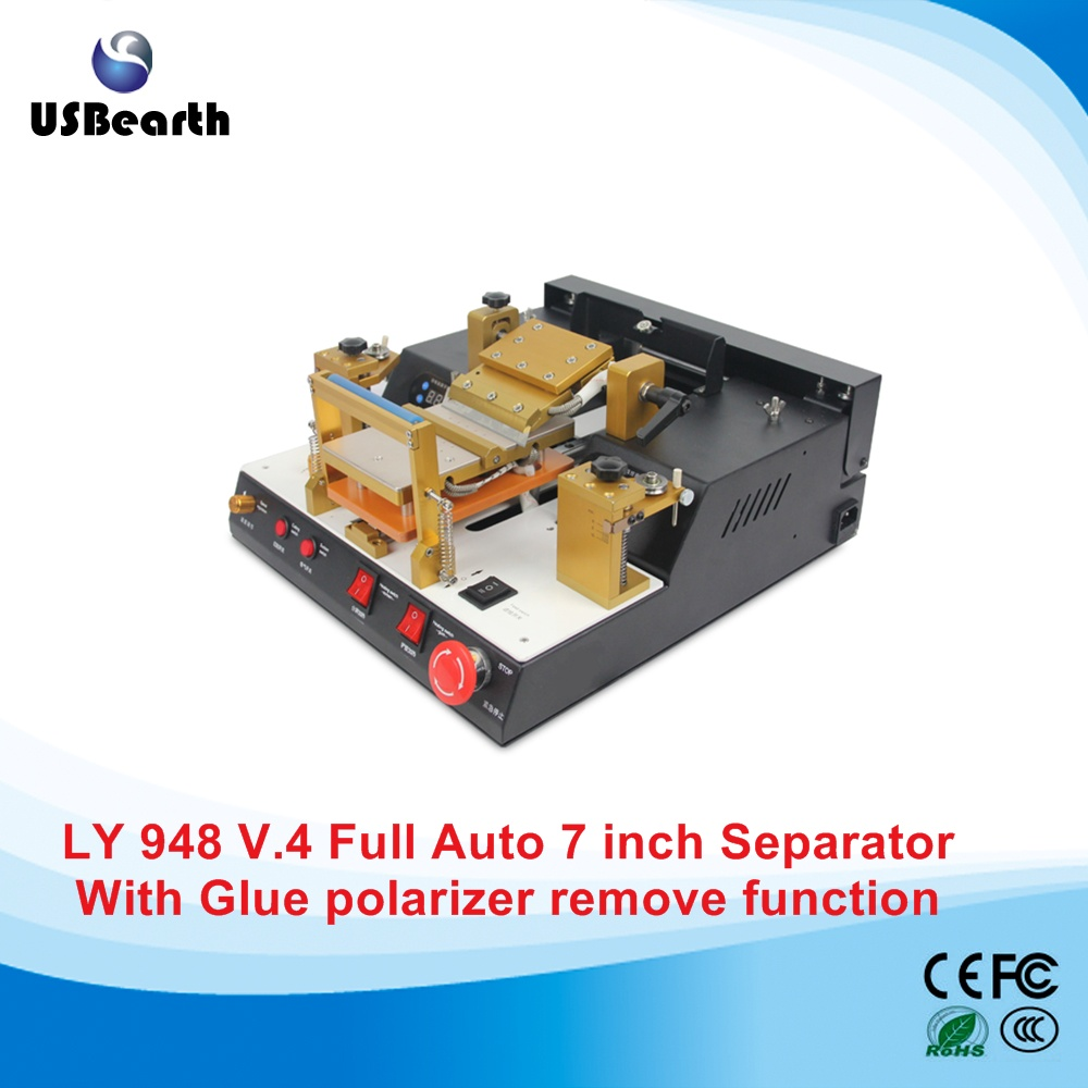 LY 948V.4 full automatic built-in vacuum pump LCD screen separator machine with glue polarizer separating,free tax to EU free shipping screen repair machine kit ly 946d lcd separator for 5 inch mobile screen 12 in 1 separate machine