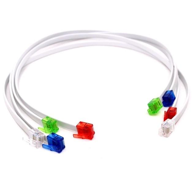 Strange 2Pcs Lot Diy 6 Core 6P6C Jumper Cable Colorful Rj12 Connector Plug Wiring Cloud Hisonuggs Outletorg