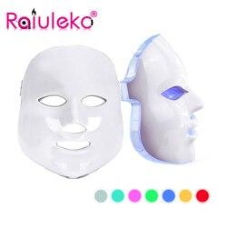 2018 upgraded 7 Colors Light Photon LED Facial Mask Skin PDT Skin Rejuvenation Anti Acne Wrinkle Removal Therapy Beauty Salon
