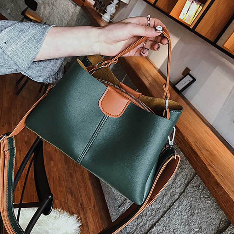 Women Shoulder Bag Luxury Handbags Women Bags Designer High-Grade Patchwork Leather Messenger Bag Female Shoulder Bag