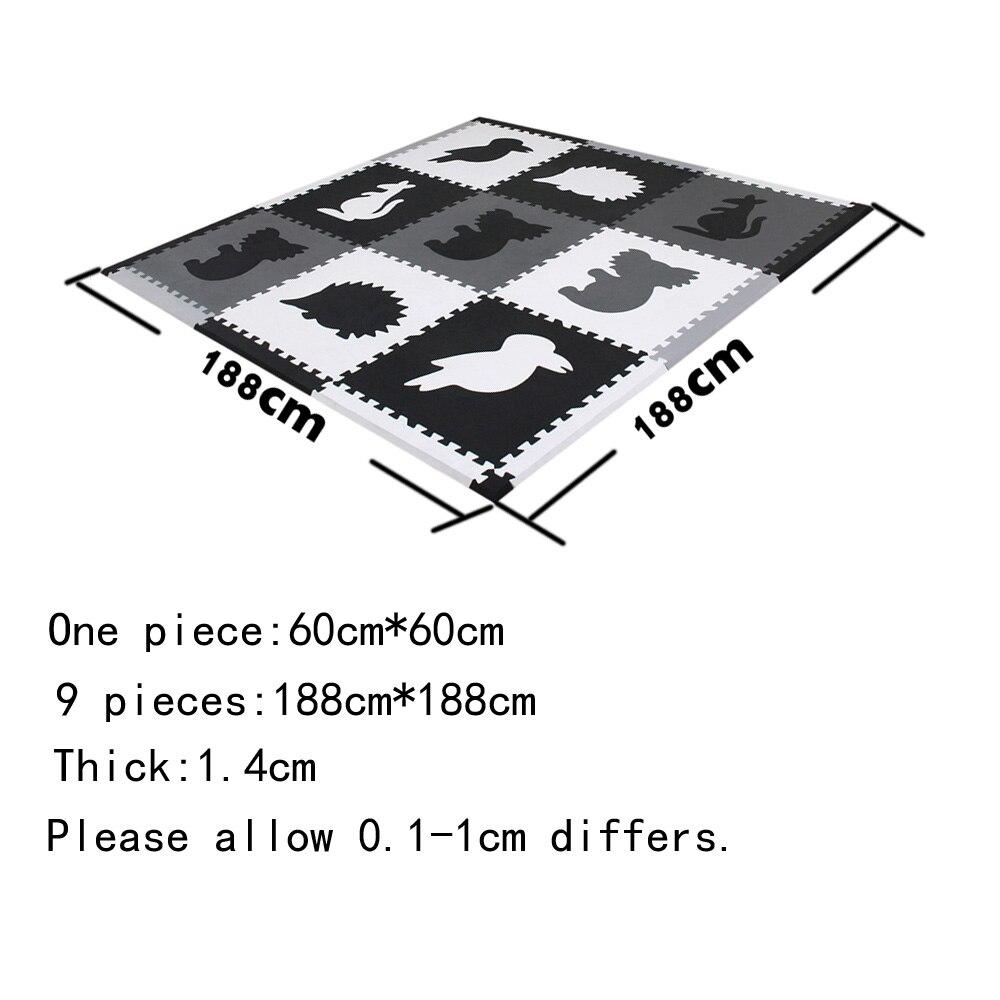 mei qi cool Animals Foam Mat Animal Play Mat Sets Baby Home Play Mats Children Play Puzzle Mats 9 piece each set 60x60cm*1.4cm