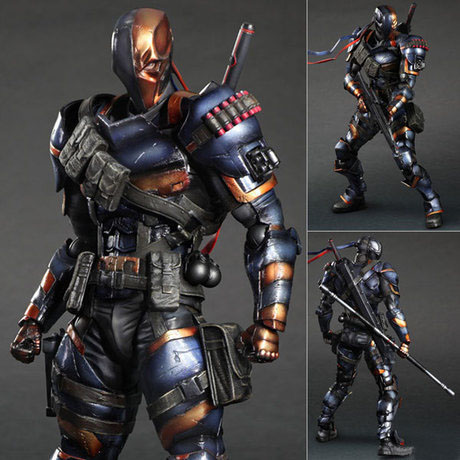 Free Shipping 11 PA KAI DC Anime Comics Batman Arkham Origins Deathstroke Boxed 27cm PVC Action figure Model Doll Toys Gift the avengers infinity war batman arkham knight play arts kai 27cm bruce wayne dc comics pvc action figure model toys l1060