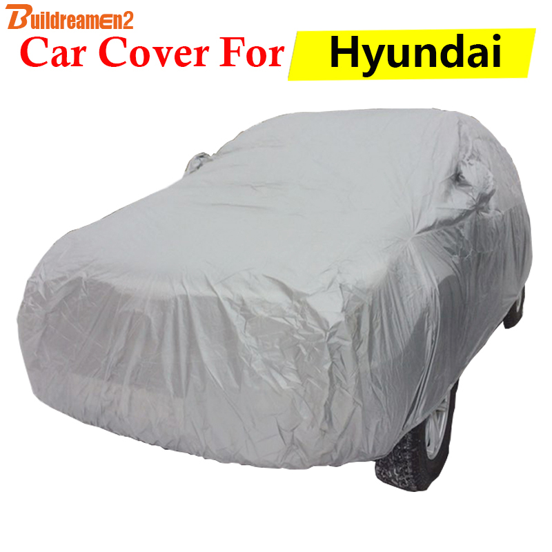Buildreamen2 Car Cover Auto Anti UV Sun Shade Rain Snow Scratch Protector Cover For Hyundai Atos