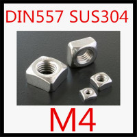 1000pcs/lot High Quality Factory Direct Sale DIN557 Stainless Steel 304 m4 Square Nut