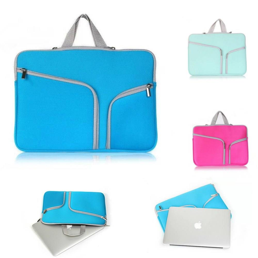 laptop Sleeve Bag Neoprene Dual Zipper Pocket Notebook Case For MacBook Air 11 12 13 Retina 13.3 15.4 Pro 13.3 15.4 Shell