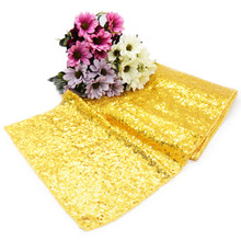 ФОТО 30x275cm sequin table runner glitter fabric rose gold /champagne sparkly wedding party event christmas banquet bling decoration
