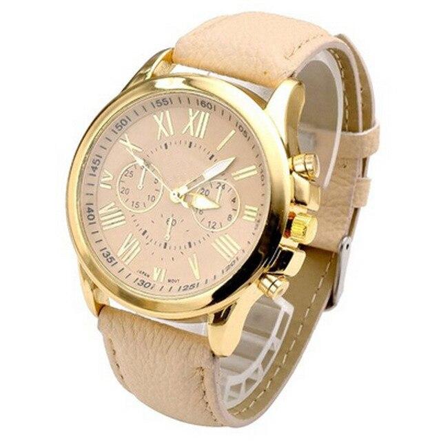 Delicate Women Watches Roman Numerals Faux Leather Analog Quartz Wrist Watch relogio feminino DROP SHIPPING J9W30 HY