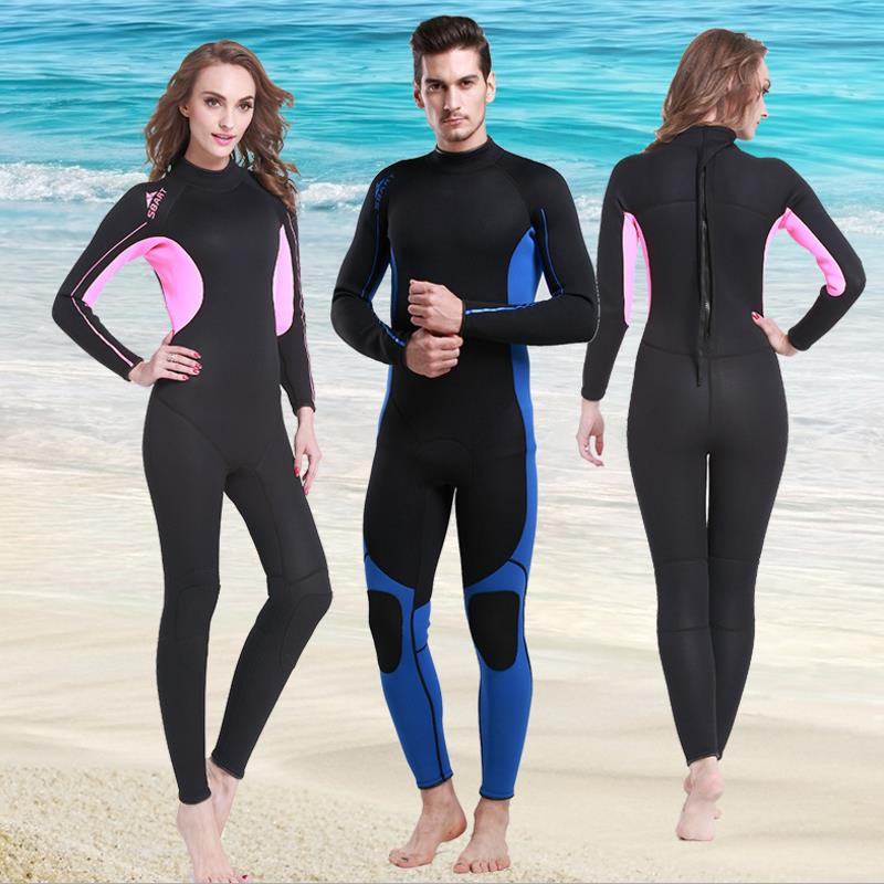 New 3MM Wetsuit Surf Suits Winter Swimming Diving Suit Men Women Lovers Warm Snorkeling Long-sleeved Thickening Jellyfish S656(China)