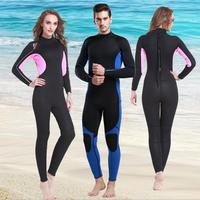 New 3MM wetsuit surf suits winter swimming diving suit men women lovers warm snorkeling long sleeved thickening jellyfish S656